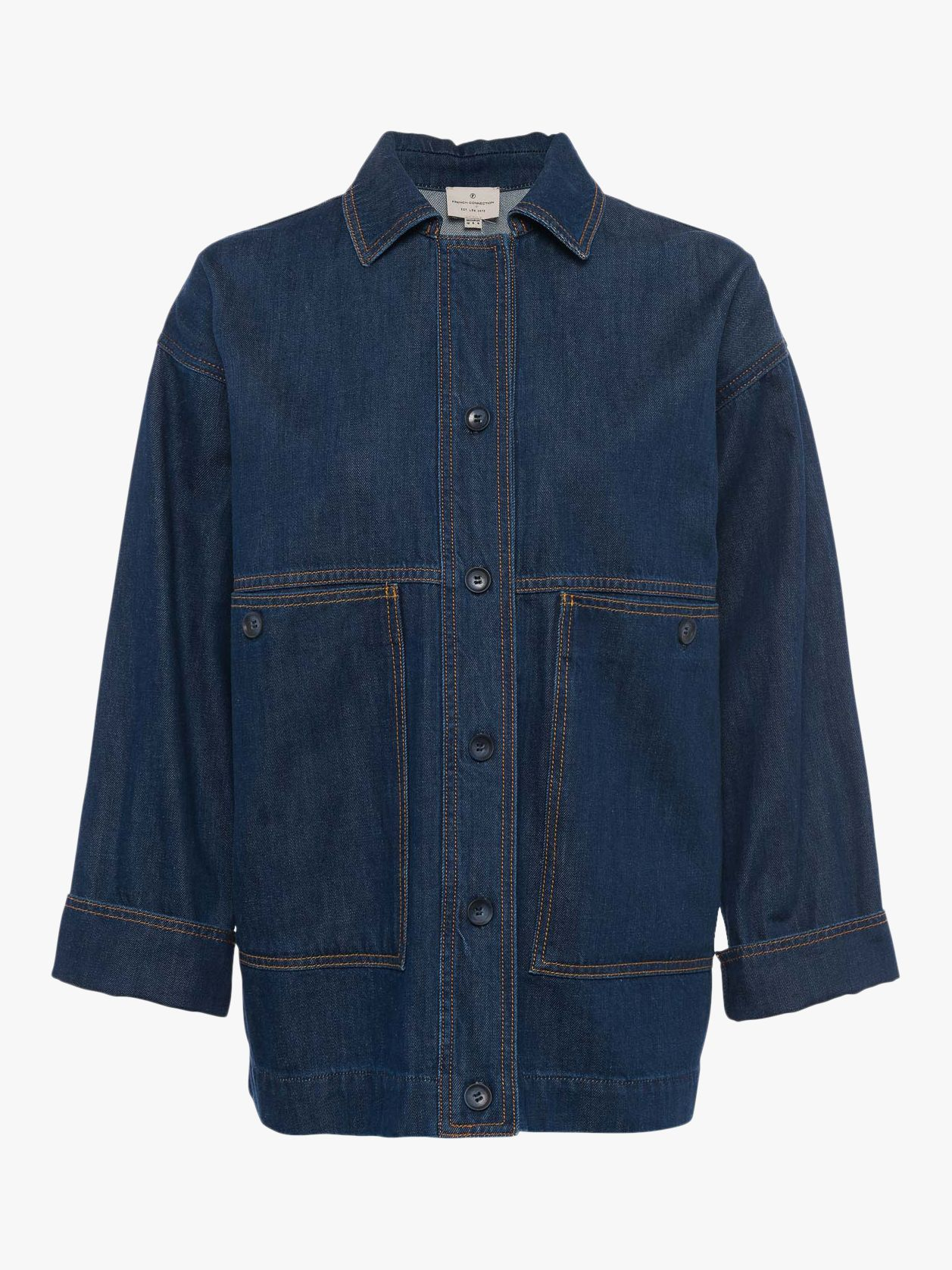 French Connection Julie Denim Utility Jacket, Rinse Blue, 6