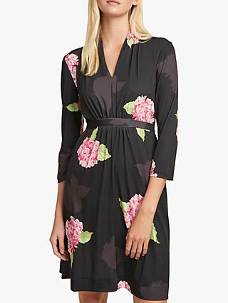 French Connection Eleonore Floral Print Dress, Black/Multi