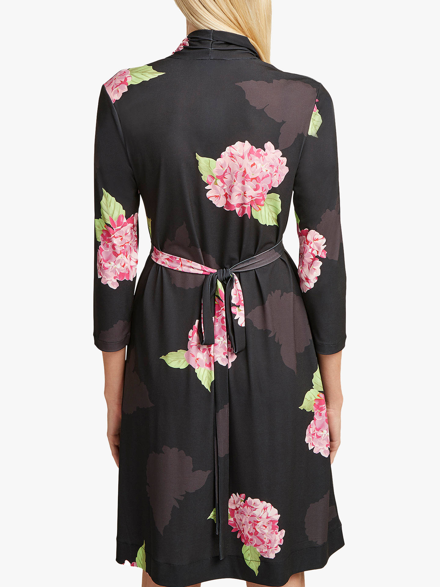069baa725c78cb ... Buy French Connection Eleonore Floral Print Dress, Black/Multi, 8  Online at johnlewis ...