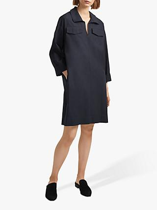 French Connection Briella Cotton Shirt Dress, Black