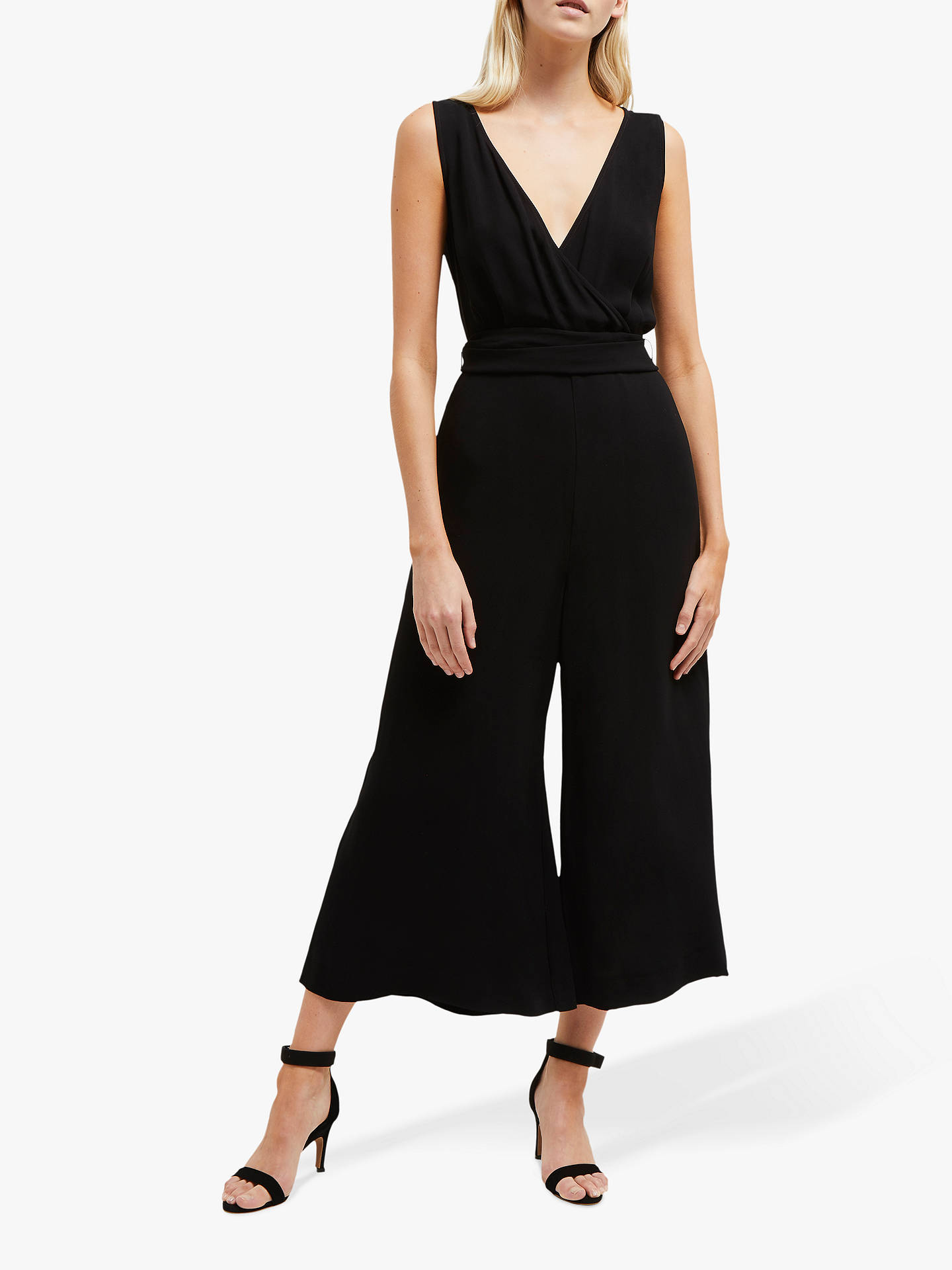 364635e1598 Buy French Connection Bessie Crepe Jumpsuit, Black, 6 Online at  johnlewis.com ...
