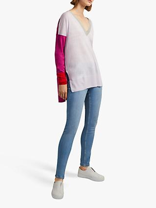 French Connection Spring V-Neck Jumper, Multi