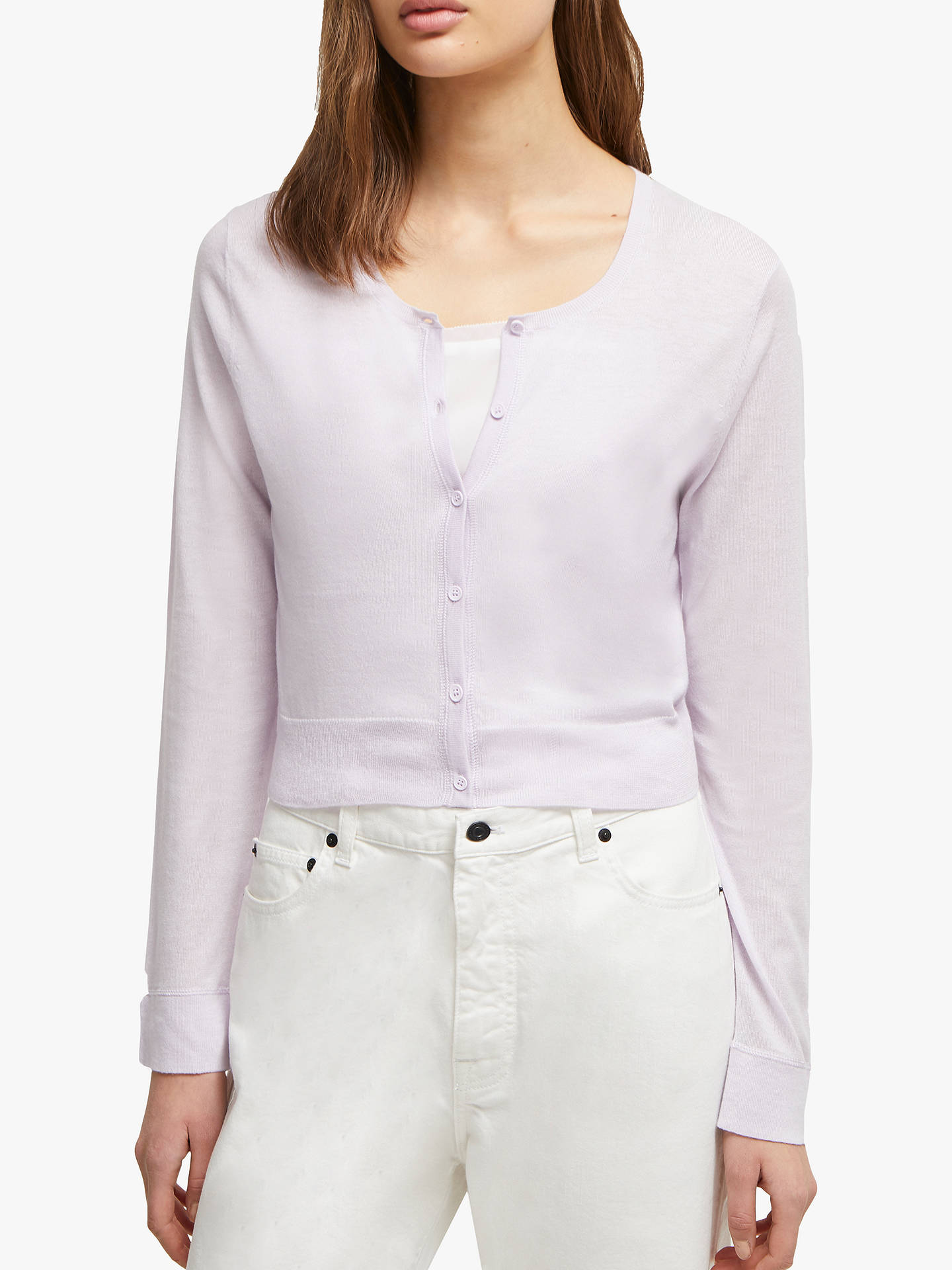 Buy French Connection Spring Long Sleeve Cardigan, Lavender Frost, XL Online at johnlewis.com
