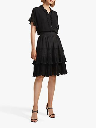 French Connection Clandre Mix Mini Skirt, Black