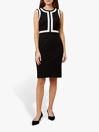 Hobbs Jackie Dress, Black/Ivory