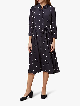 Hobbs Lainey Shirt Dress, Navy/Ivory
