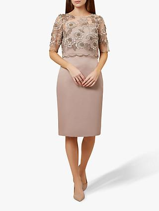 Hobbs Anna Floral Dress, Mink