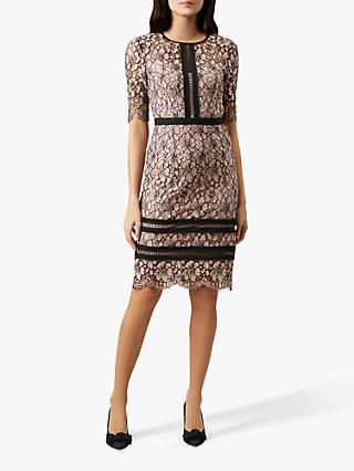 Hobbs Penny Floral Lace Dress, Pink