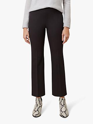 Hobbs Amanda Bootcut Cropped Trousers, Black