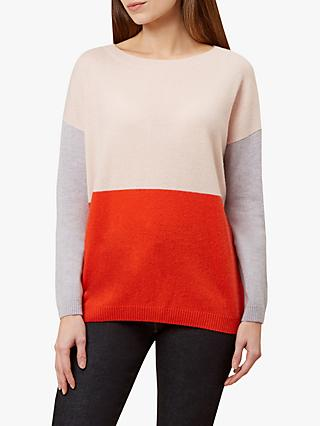 Hobbs Sofia Jumper, Blush/Multi