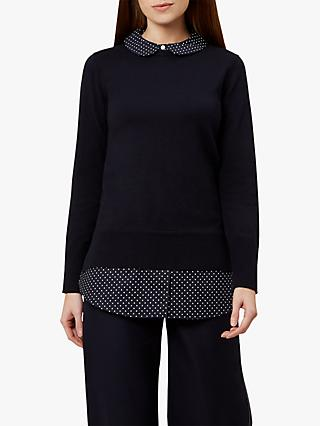 Hobbs Venessa Sweater, Navy