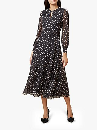 Hobbs Quinn Dress, Black/Pink