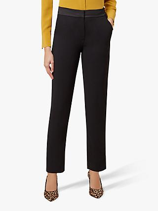 Hobbs Tamia Tapered Trousers, Black