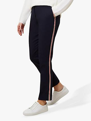 Hobbs Annie Striped Trousers, Navy