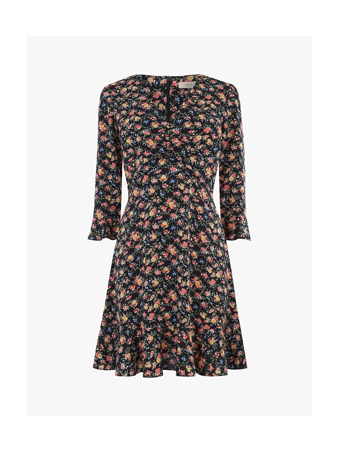 ad09abdc5e92 ... Buy Oasis Garden Ditsy Skater Dress, Multi, 6R Online at johnlewis.com  ...