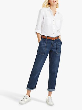 Oasis Sophie Tapered Boyfriend Jeans, Dark Wash