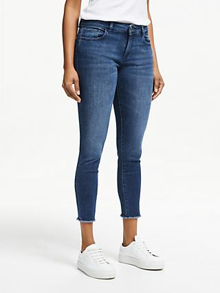 DL1961 Florence Mid Rise Cropped Skinny Jeans, Stranded