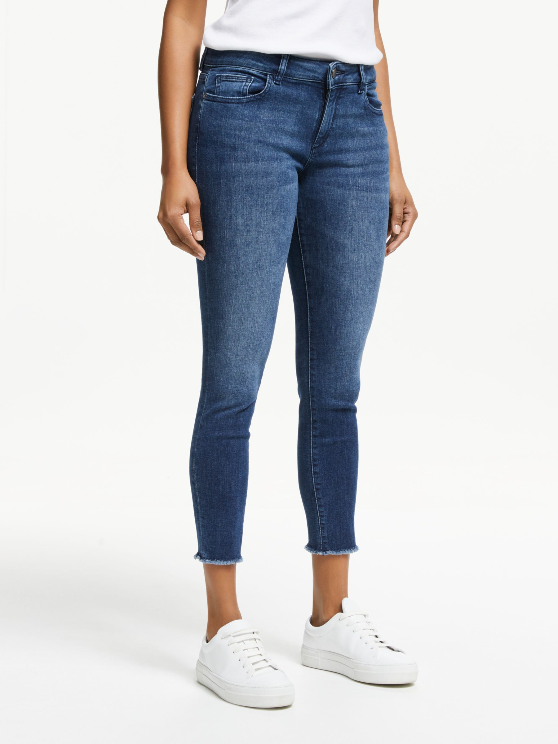 DL1961 DL1961 Florence Mid Rise Cropped Skinny Jeans, Stranded