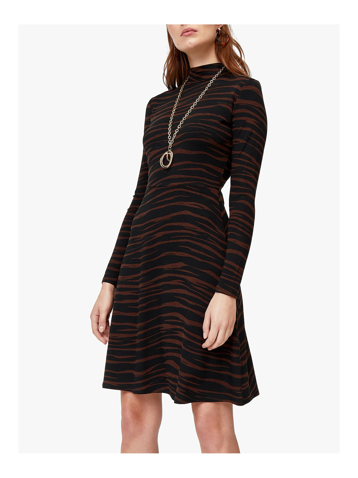 BuyWarehouse Tiger Print Skater Dress 7a12f884d