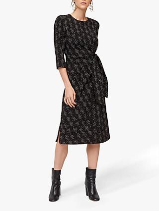 Warehouse Snake Print Twist Knot Dress a5c541182