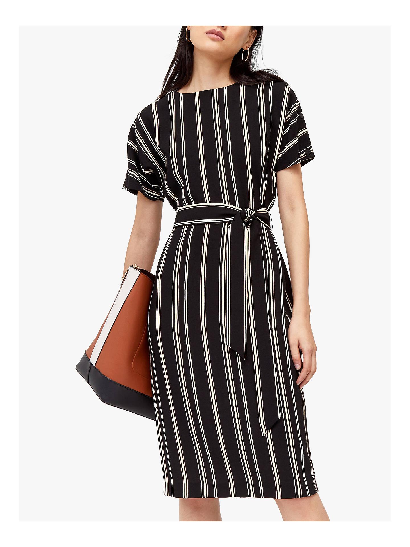 74be85e330872 Buy Warehouse Stripe Button Midi Dress, Multi, 8 Online at johnlewis.com ...