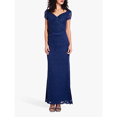 Adrianna Papell Lace Embellished Column Dress, Night Flight