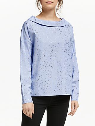 Numph Abalina Metallic Dot Blouse, Regatta