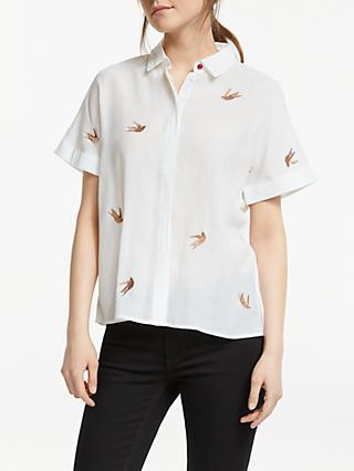 Numph Jocelynn Bird Embroidery Shirt, Pristine