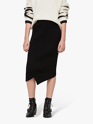 AllSaints Amara Asymmetric Pencil Skirt f785afd54fa