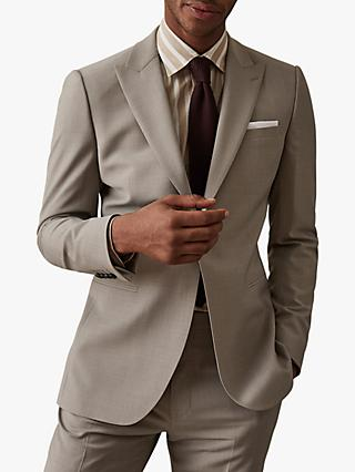 Reiss Wander Peak Lapel Slim Fit Suit Jacket, Champagne