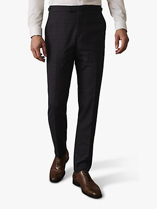 Reiss Gritton Micro Check Slim Fit Suit Trousers, Navy
