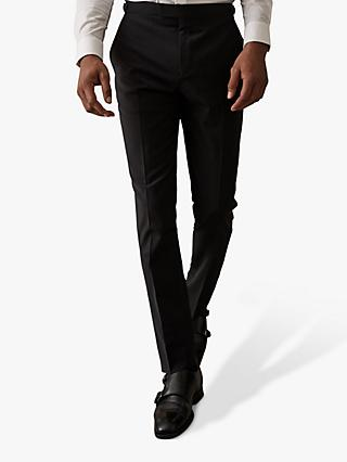 Reiss Hope Modern Fit Travel Suit Trousers, Black