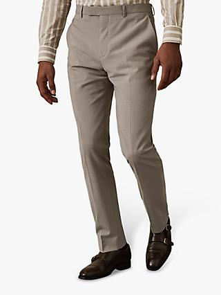 Reiss Wander Slim Fit Suit Trousers, Champagne