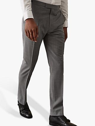 Reiss Hope Modern Fit Travel Suit Trousers, Grey
