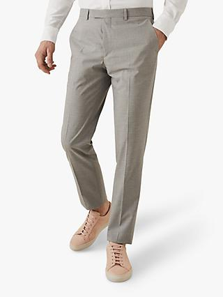 Reiss Gilly Check Slim Fit Trousers, Grey