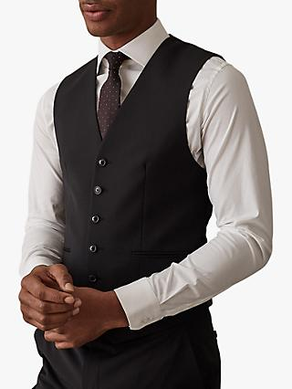 Reiss Hope Modern Fit Travel Waistcoat, Black