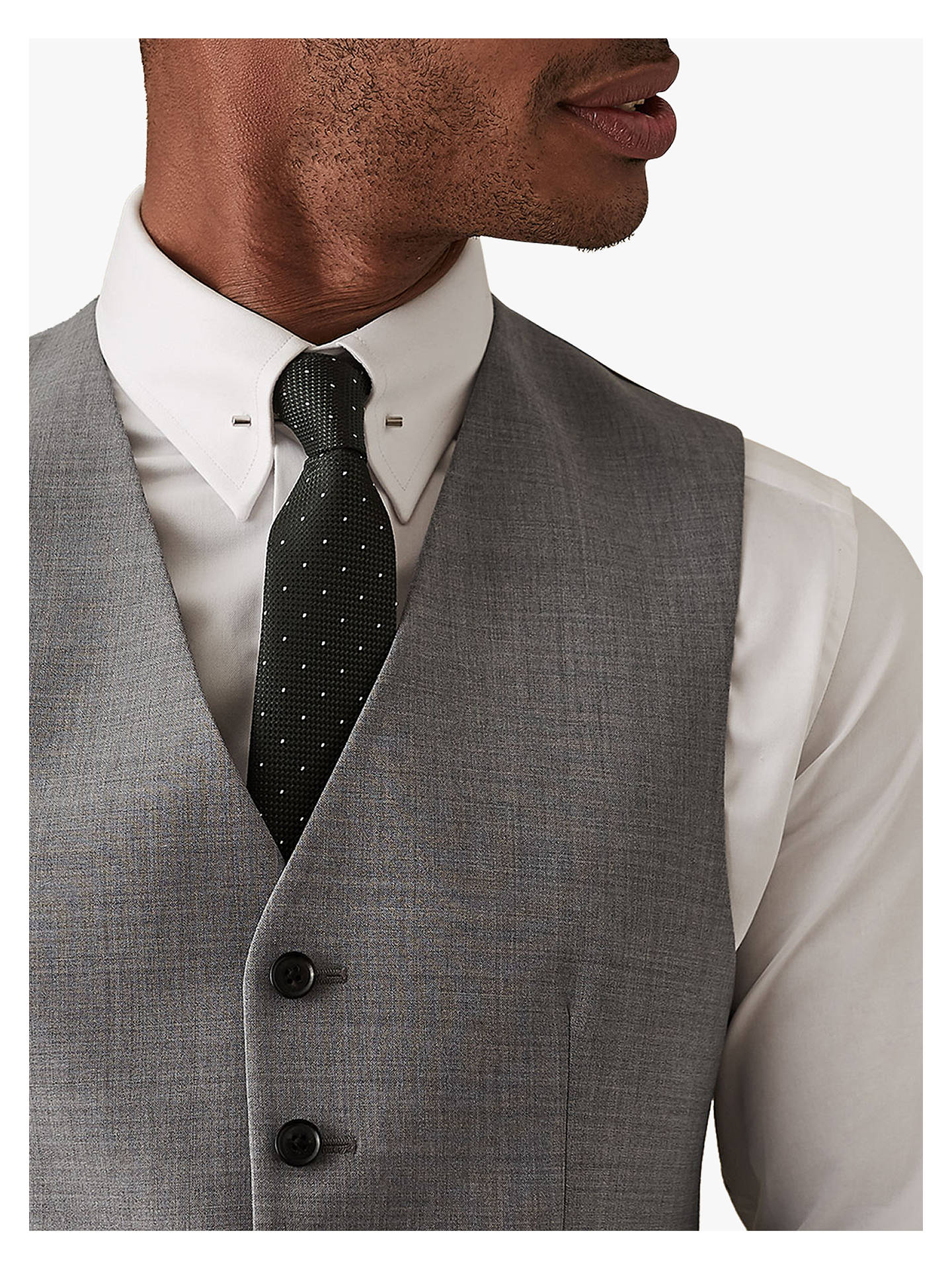Buy Reiss Hope Modern Fit Travel Waistcoat, Grey, 44R Online at johnlewis.com