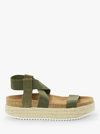 Kin Lena Elasticated Flatform Espadrille Sandals