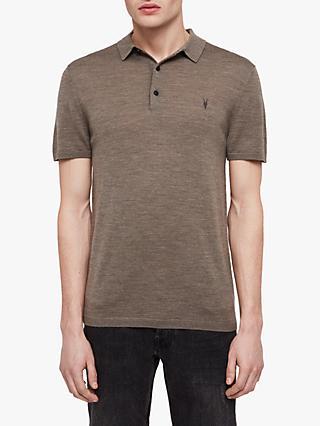 9ac6fcd0a1a AllSaints Mode Merino Polo Shirt