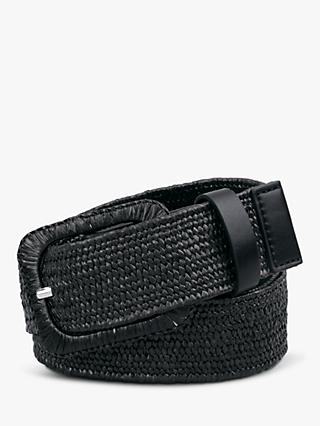 hush Clematis Woven Jeans Belt, Black