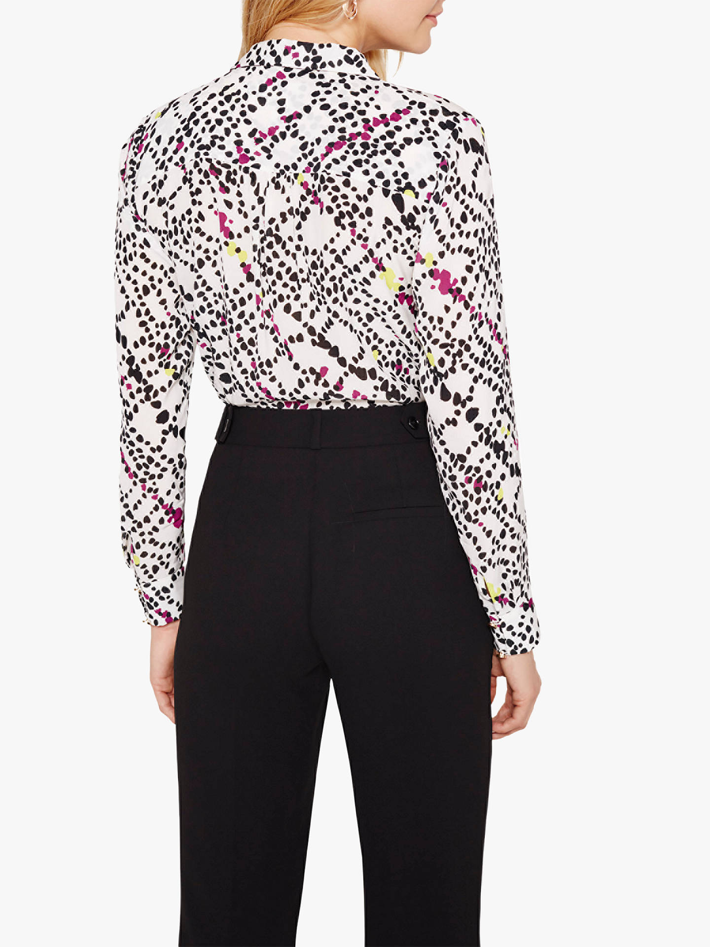 224bc6ed62fa52 ... Buy Damsel in a Dress Marin Animal Print Blouse, White/Multi, 12 Online  ...