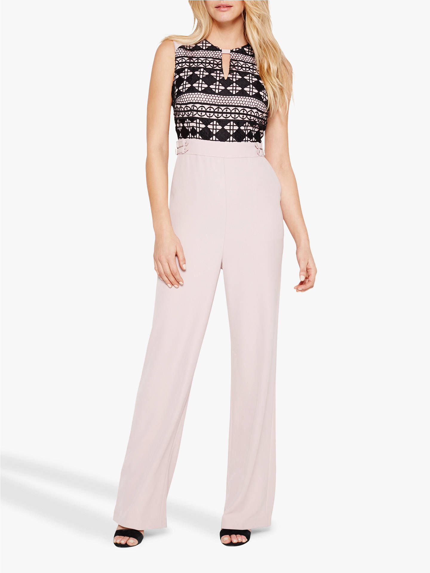 Buy Damsel in a Dress Porta Lace Jumpsuit, Black/Nude, 10 Online at johnlewis.com