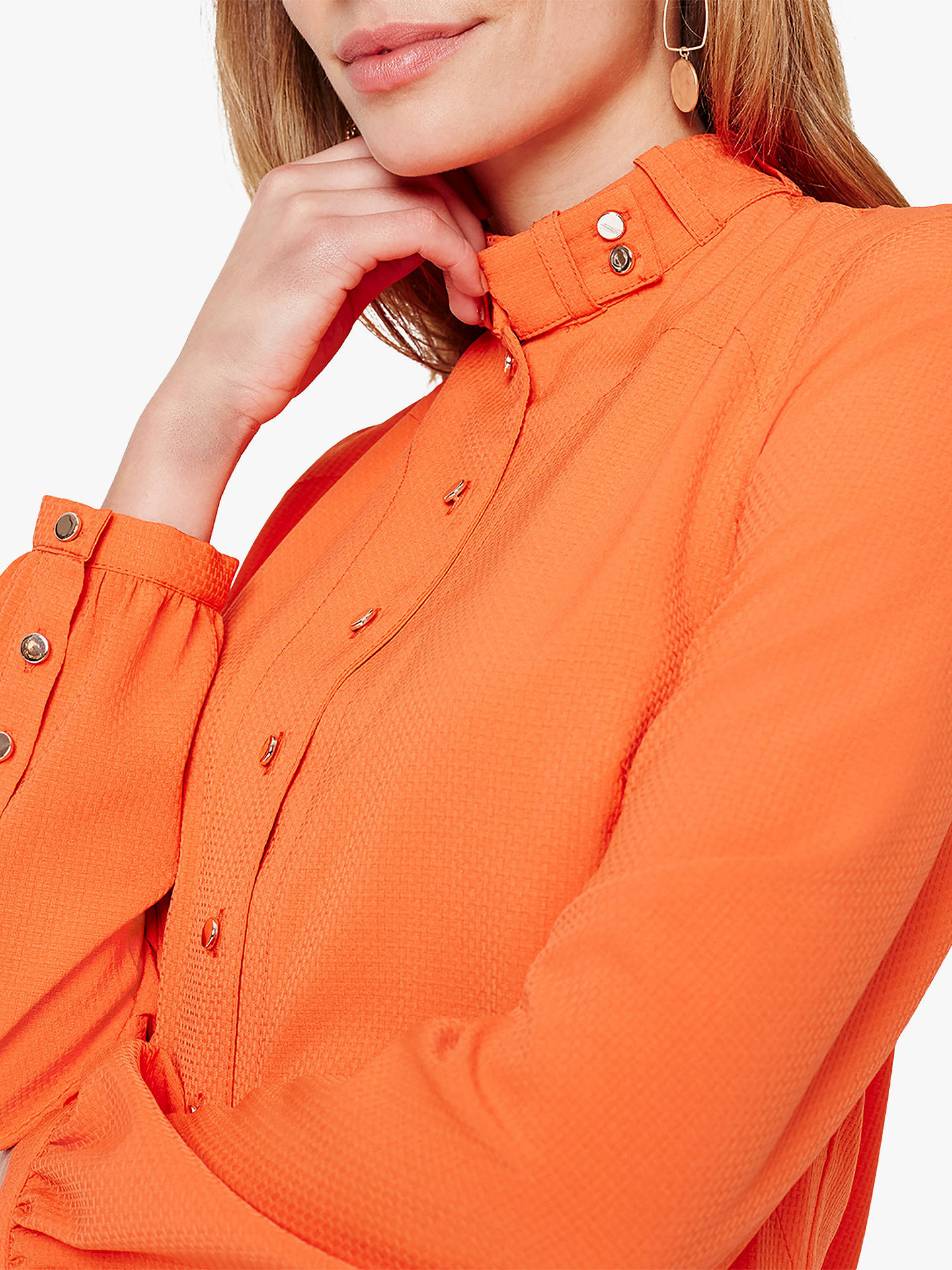Buy Damsel in a Dress Marlena Trench Shirt, Orange, 16 Online at johnlewis.com