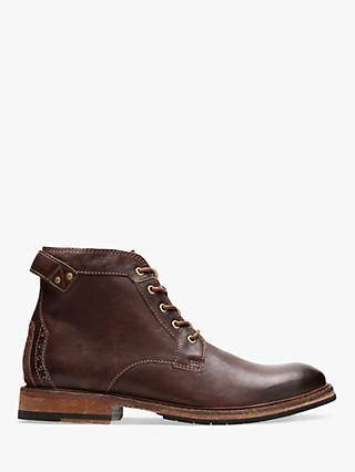 Clarks Clarkdale Bud Leather Boots, Mahogany
