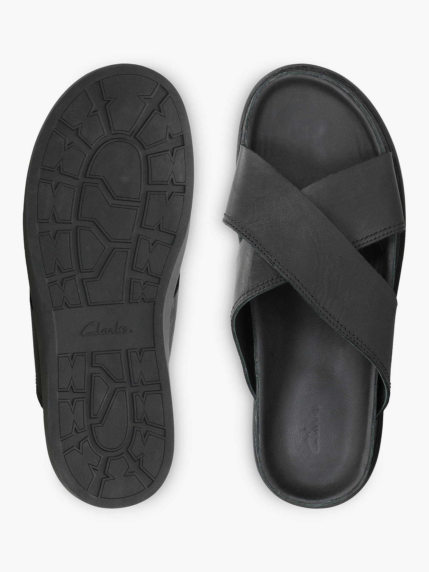 56c37c23acd4 ... Buy Clarks Trace Cross Leather Sandals