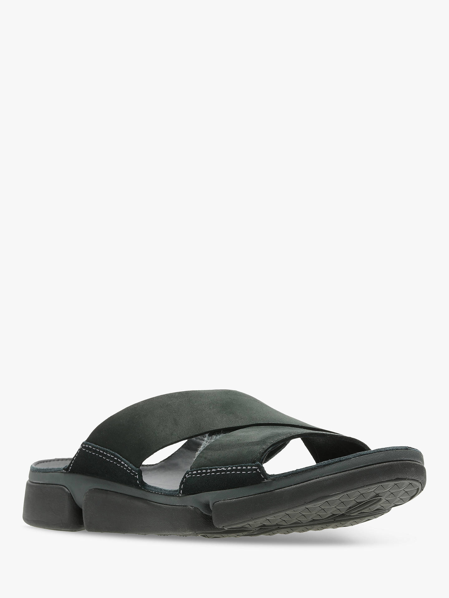 Buy Clarks Tri Cove Cross Leather Sandals, Black Combi, 11 Online at johnlewis.com