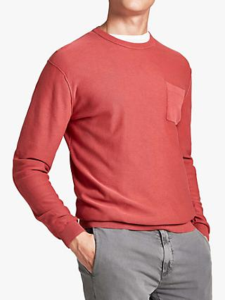 HKT Garment Washed Jumper, Jack Red