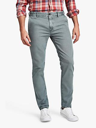 HKT Regular Fit Stretch Chinos, Slate