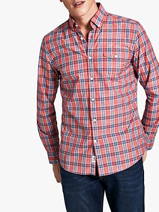 HKT Multi Check Fleet Shirt, Jack Red
