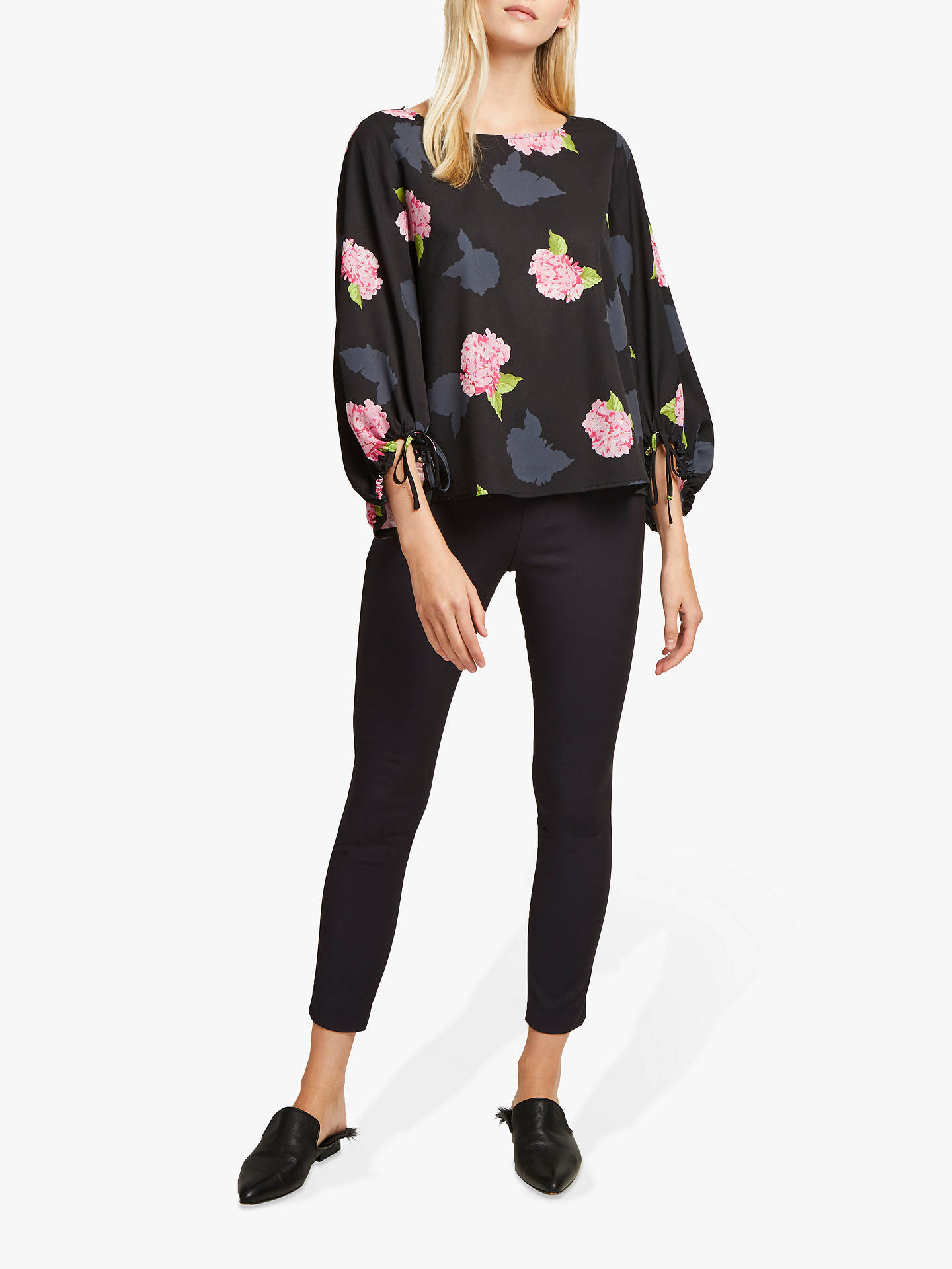 42d2b43757e71e ... Buy French Connection Eleonore Floral Top, Black Multi, XS Online at  johnlewis.com ...